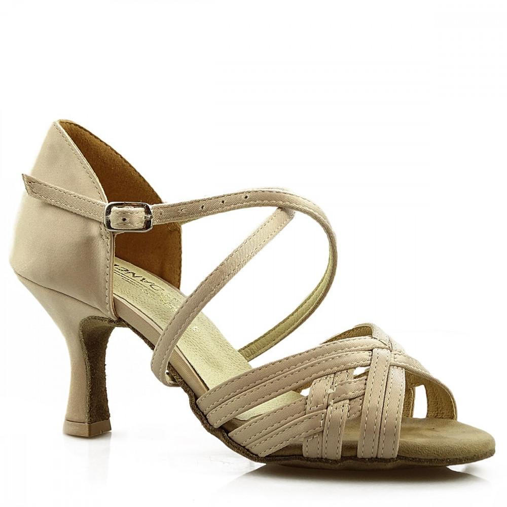 Sandały do tańca, 03, beżowe jasne, satyna