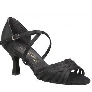 Sandały do tańca, 12, czarna satyna