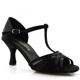 Sandały do tańca, 15PX, czarna satyna