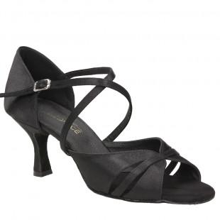 Sandały do tańca, 16P, czarne satyna