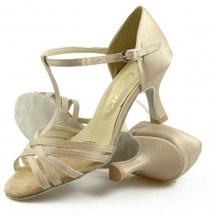 Sandały do tańca, 15P, beżowe, jasna satyna