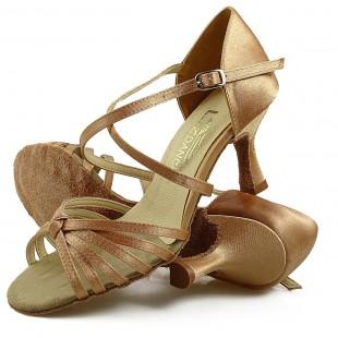 Sandały do tańca, 01, cieliste, jasna satyna