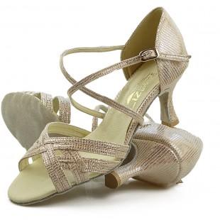 Sandały do tańca, 03, złoty szampański