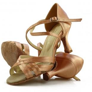 Sandały do tańca, 03, miedziane, jasna satyna