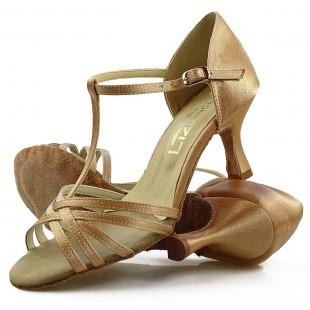 Sandały do tańca, 15P, cieliste, jasna satyna