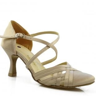 Sandały do tańca, 03C, beżowy, jasna satyna