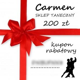 Kupon podarunkowy 200 zł, sklep taneczny Carmen