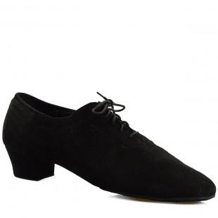 Buty do tańca, 420, męskie, czarne nubuk, skórzane