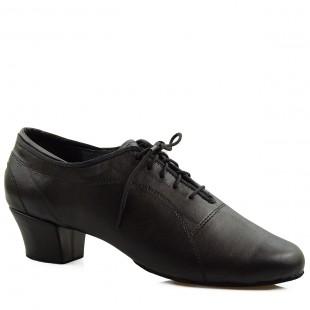 Buty do tańca, 420, męskie, czarne mat, skórzane